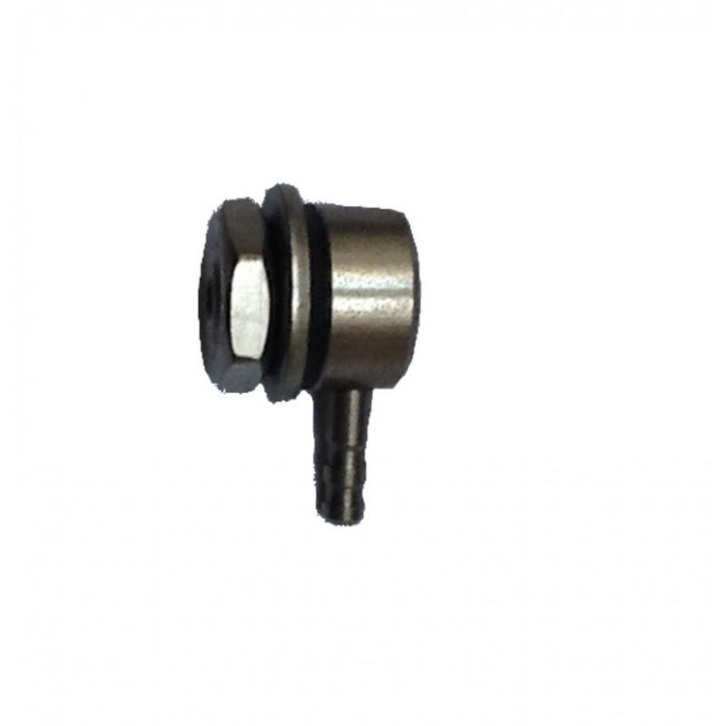 Raccordement coude pour tuyau 4X6